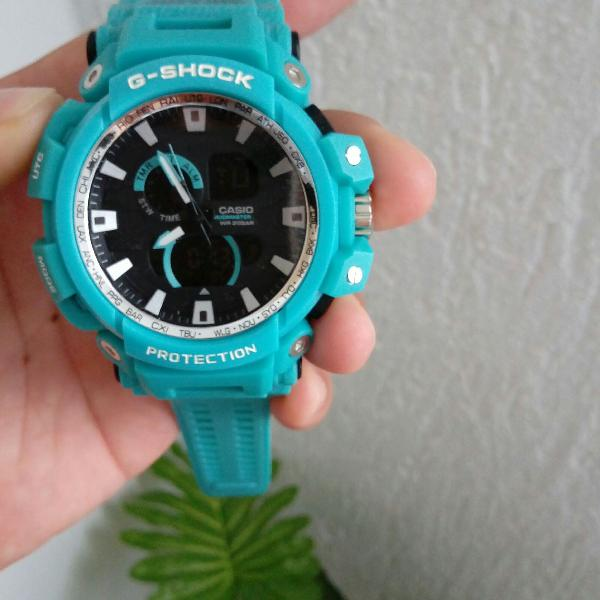 Relógio g-shock mudmaster azul bebê