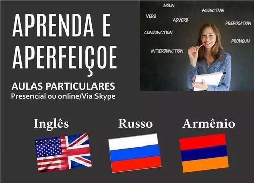 Aulas particulares de inglês e russo - via skype r$ 30,00