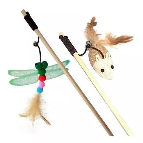 Brinquedos para gato kit com 2 varinhas