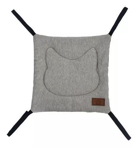 Cama rede para gato fábrica pet london moletom e sarja azul