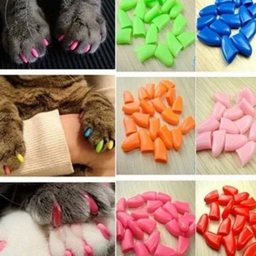 Capa protetora unha de gato 20 unidades silicone + 1 cola