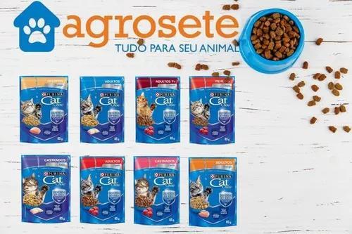 Cat chow sache 85g com 60 unidades sabores sortidos