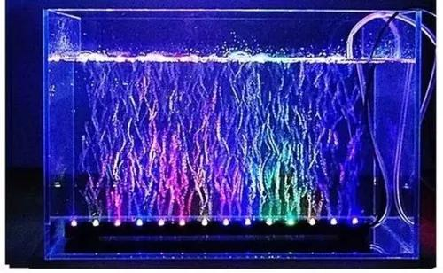 Cortina de bolhas luminosa aquários bi-volt leds cores 69cm