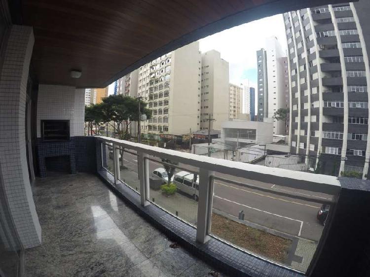 Excelente apartamento com 300 m2 4 quartos em batel -