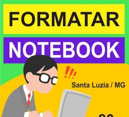 Formatar notebook computador na grande bh santa luzia / mg
