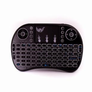 Mini teclado sem fio (wireless) com touchpad e iluminação
