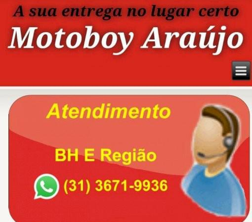 Motoboy araújo serviço de moto-frete em bh e região
