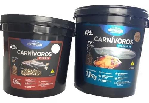 Peixe carnivoros superficie 1,1kg + fundo 1,3kg bande