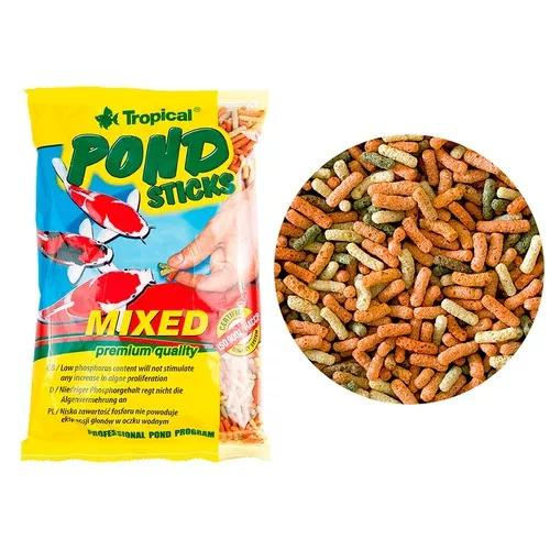 Ração p/ carpas e kinguios tropical pond sticks mixed 90g