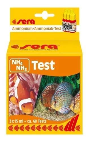 Sera teste amonia nh4/nh3 aquario doce e marinho
