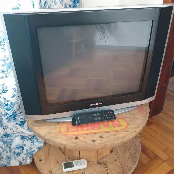 Tv samsung 20' tubo com controle remoto