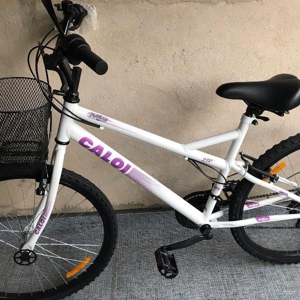 Bicicleta caloi ventura branca