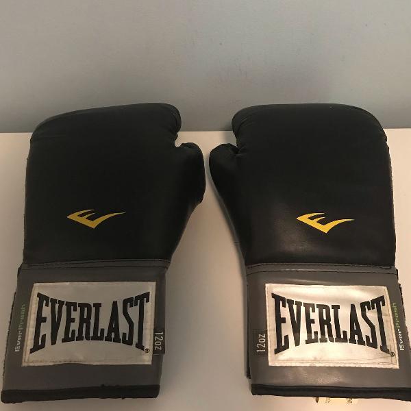 Luva boxe/muay thai - everlast - ótimo estado!