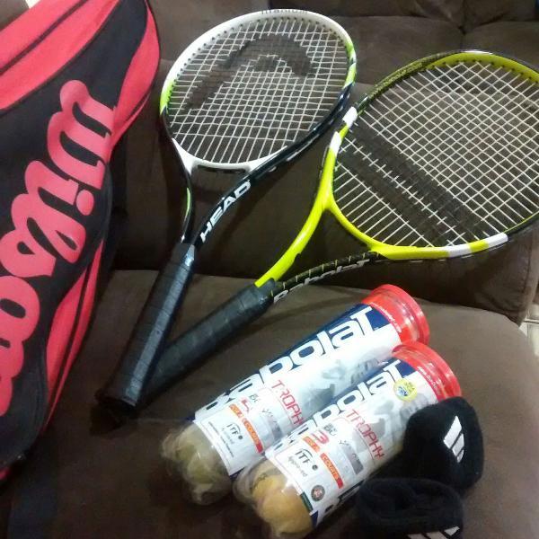 Raquetes tenis 2 unid