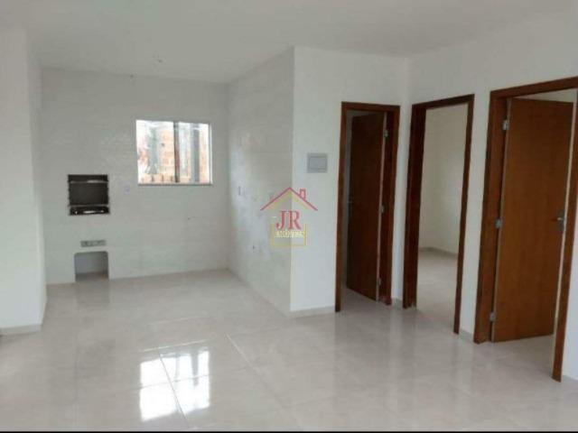Ak@-apartamento térreo dois dormitórios, sala e cozinha