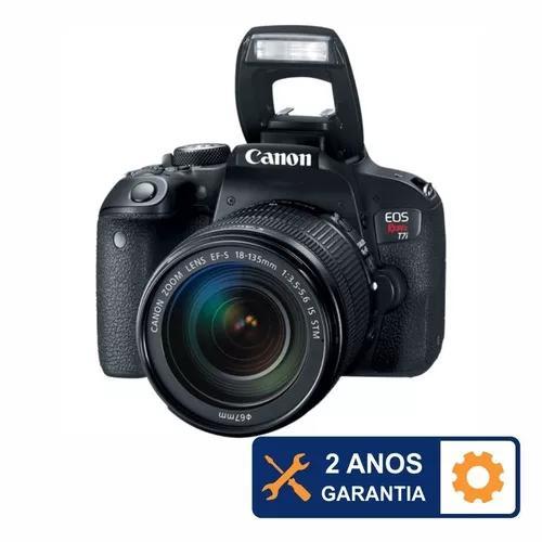 Canon t7i wifi com 18-135mm is stm + 2 anos de garantia +