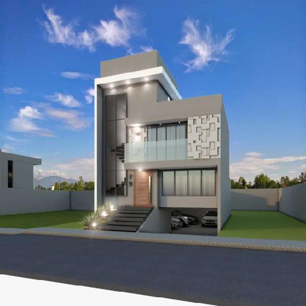 Casa em condomínio, com 3 suítes, terraço e 5 vagas de