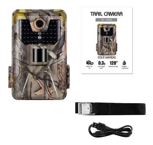 Câmera de caça para trilha com tela led profissional hc