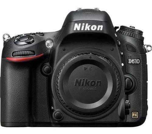 Câmera nikon d610 corpo 24,3mp fullframe pronta entrega nfe