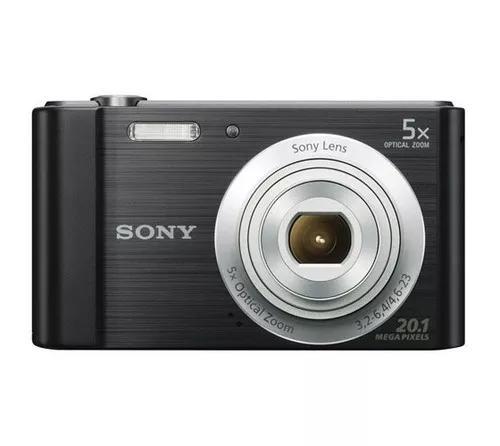 Câmera sony dsc w800 tela 2.7 zoom 5x 20.1 mp black +