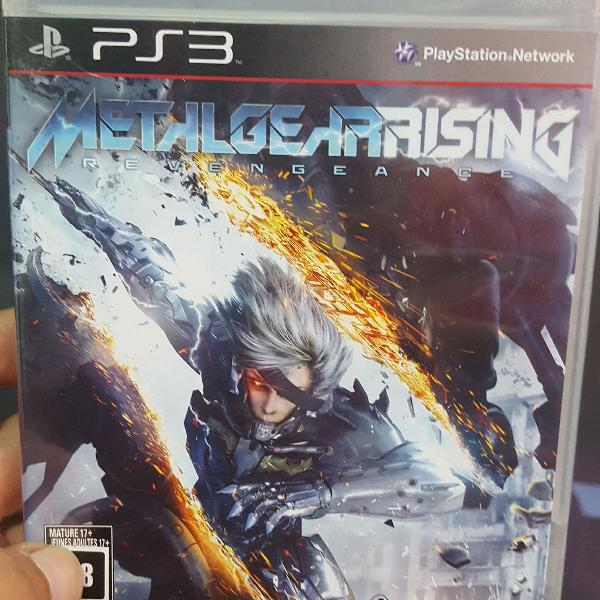 Jogo ps3 metal gear rising original lacrado