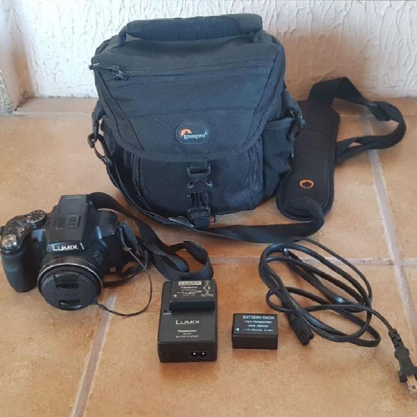 Kit completo câmera lumix panasonic semi profissinal