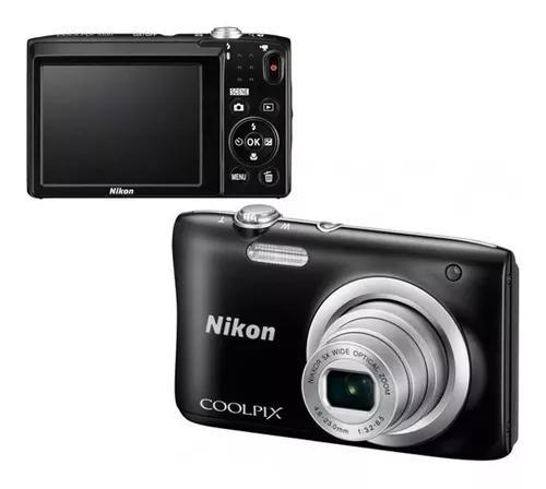 Nikon coolpix câmera a100 20.1mp/5x/hd o