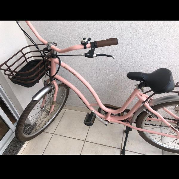 Bicicleta antonella rosa