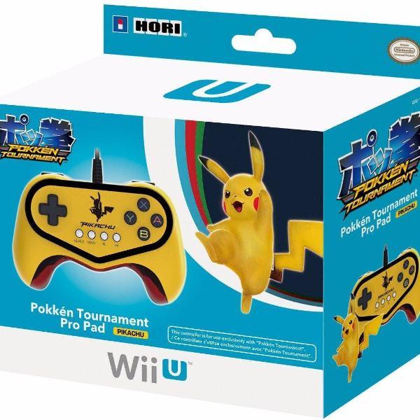 Controle wii u pikachu pokkén tournament pro pad