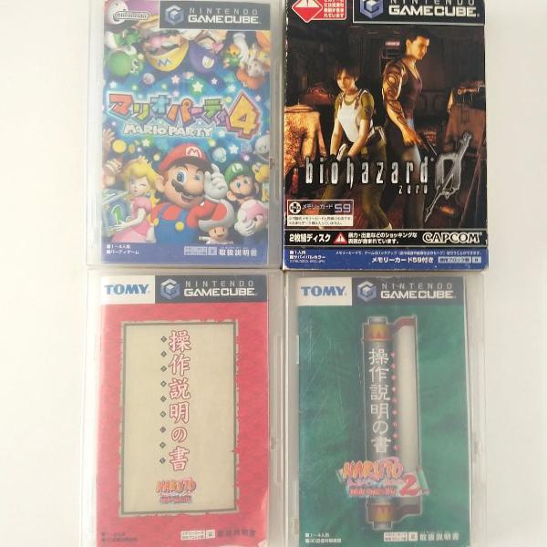 Game cube japones resident evil 0, naruto clash of ninja,