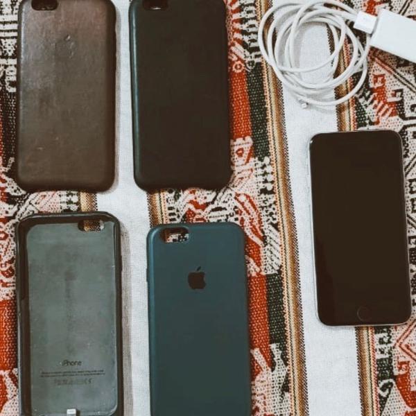 Iphone 6s 64gb + case bateria original apple