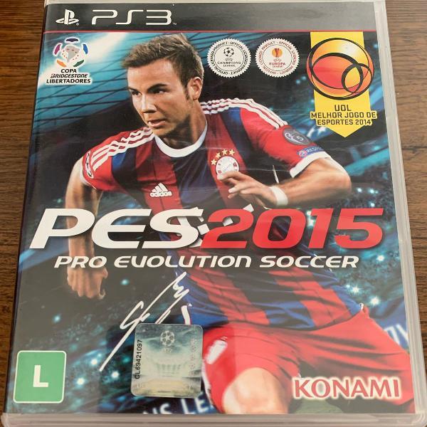Jogo ps3 - pes 2015 - pro evolution soccer
