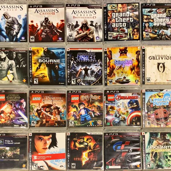 Pacote 10 jogos playstation 3 ps3 midia fisica original