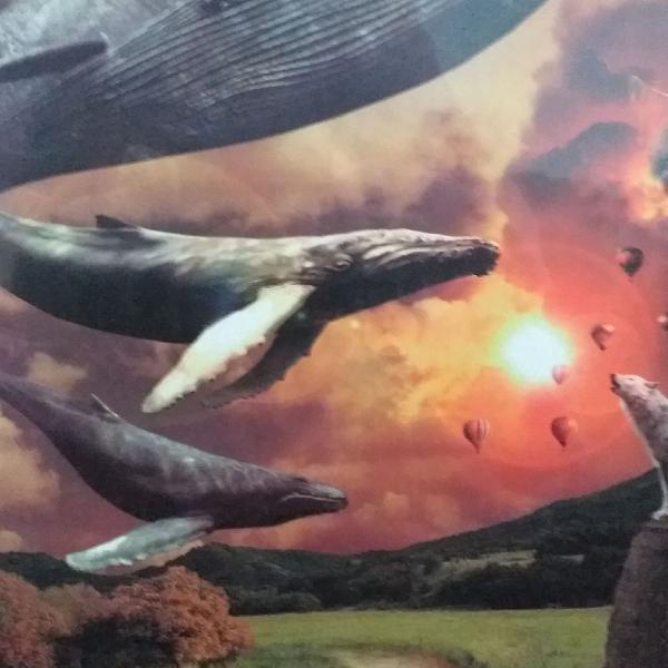 Puzzle grow com 1000 peças flying whales
