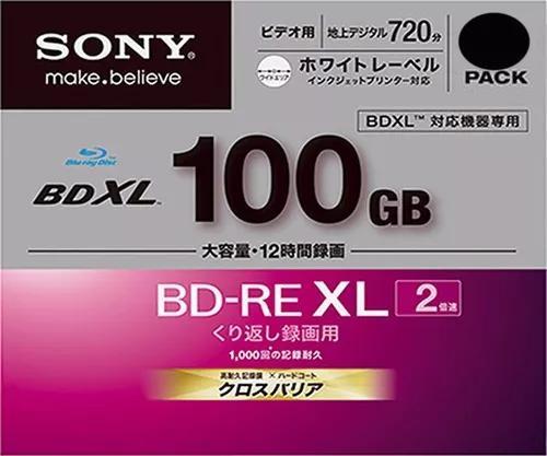 1 mídias bluray sony bd-re xl 100gb. originais