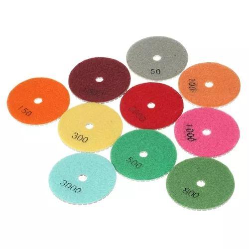 10pcs 3 &quotdiamond flexible wet polishing pads disco de