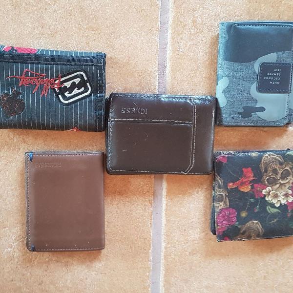 5 carteiras de uma vez! uau!!