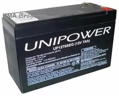 Bateria selada agm 12v 7ah up1270seg unipower - até