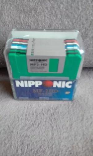 Caixa de acrílico de disquetes nipponic mf 2 hd 3.5 com 11