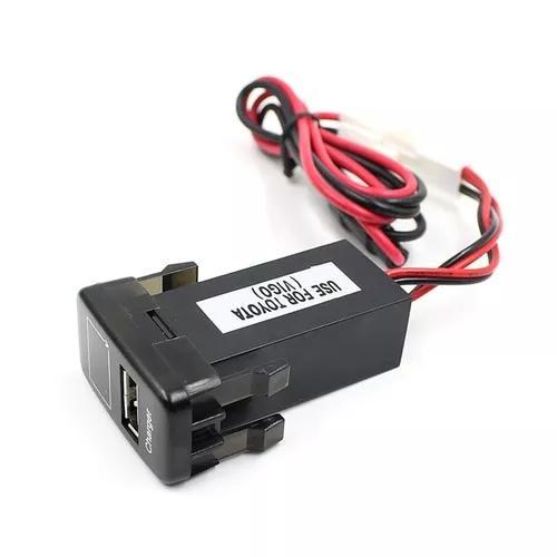 Carro 5v 2.1a usb porto painel de instrumentos voltímetro t