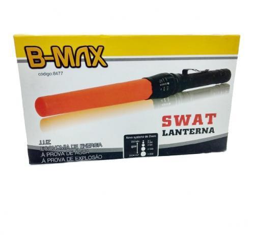 Lanterna swat a prova dágua b-max 8477 - loja natan abreu