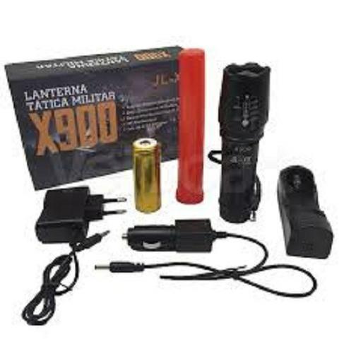 Lanterna x900 tática militar profissional potente completa