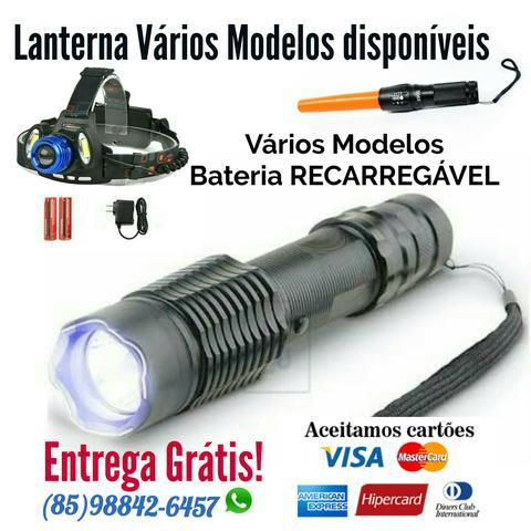 Lanterna vários modelos disponíveis. bateria