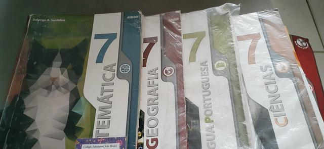 Livros didáticos salesiano dom bosco 7 ano!!!