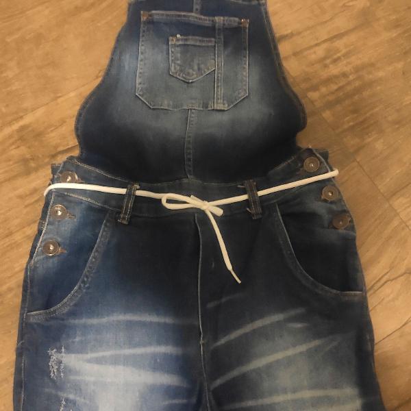 Macacão masculino jeans novo