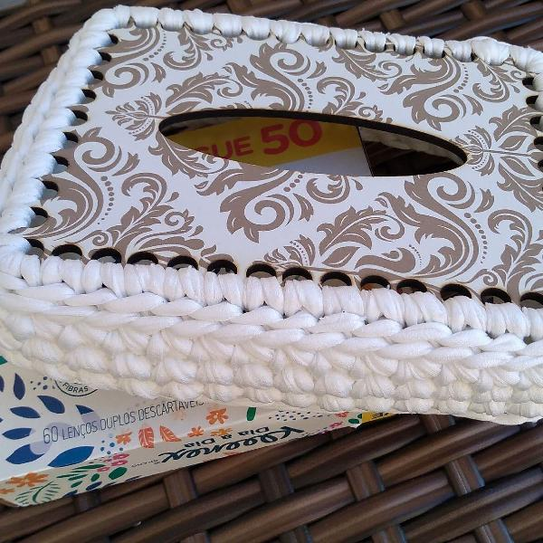 Maxi crochê porta lenços de papel