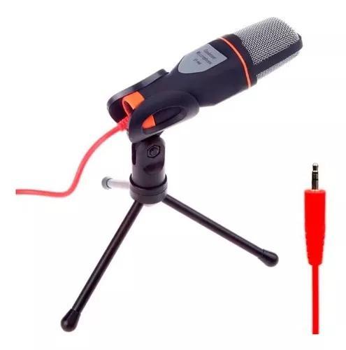 Microfone multimídia alta sensibilidade condensador pc t44