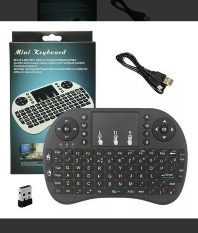 Mini teclado wireless touch pad para smart tv, notebook e