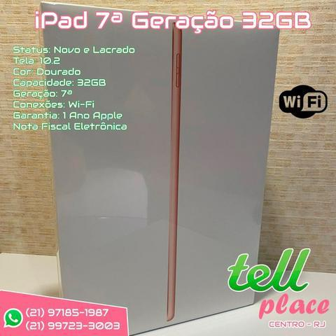 Novo ipad geração 7 wi-fi 32gb dourado novo 1 ano garantia