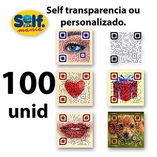 Qr code personalizado selfmania 100 unidades (presente)